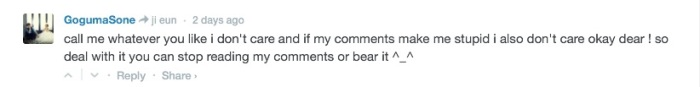 crazy goguma comment