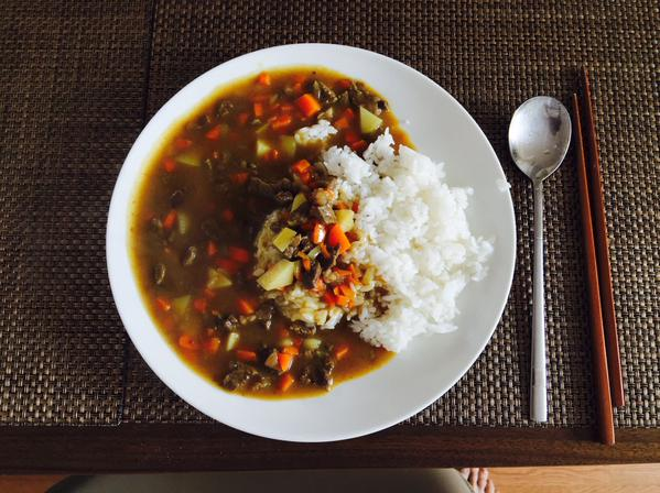 Yonghwa's homecooked curry.
